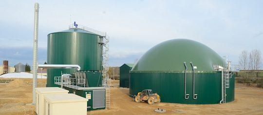 La partie méthanisation de Marnay Energie a été construite par Xergi, photo Xergi