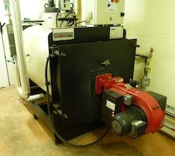 La chaudière à biogaz de l'évapo-concentrateur, photo Frédéric Douard