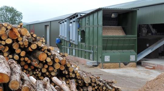 Le séchoir de plaquettes des Ets Duffield Wood Pellets dans le nord de l'Angleterre web