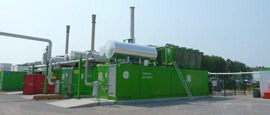 Les 3 moteurs de cogénération biogaz des Ets Baudelet Environnement dans les Hauts de France, photo Frédéric Douard