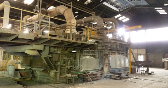 Les fours de l'affinerie d'aluminuim Baudelet sont alimentés en biogaz, photo Frédéric Douard