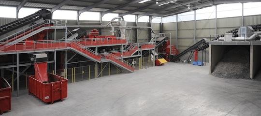 Ligne de préparation des CSR chez Baudelet, photo Baudelet