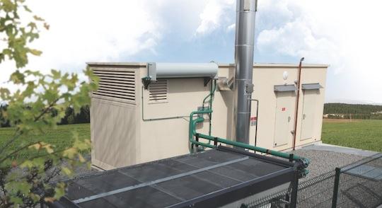 Module béton de cogénération biogaz SDMO