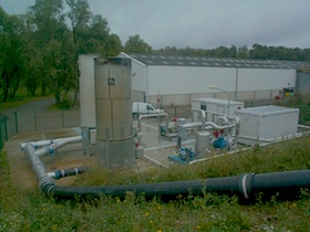 Réseau de capatage du biogaz de l'ISDND de Blaringhem, photo Baudelet
