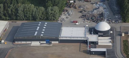 Vue aérienne du Centre de Valorisation Organique Baudelet, photo Baudelet