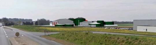 Projet 3D de Biogaz de Bannalec dans son environnement de la ZA Loge Begoarem