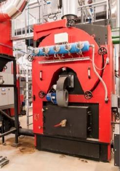 L'une des deux chaudières à bois Compte R. de 750 kW à Brézillet