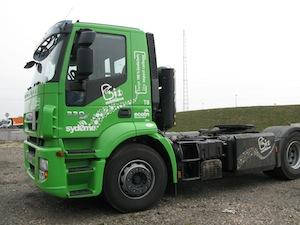 Tracteur poids lourd fonctionnant au bioGNV, photo Club Biogaz ATEE