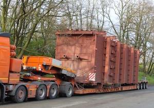 Livraison du foyer Renewa de 33 m et 80 tonnes, photo Dalkia Nord