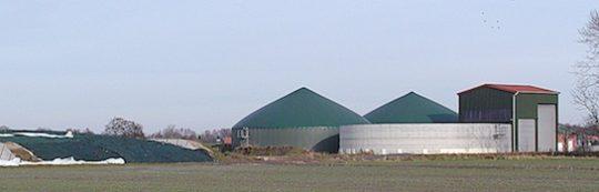 Unité de méthanisation au maïs à Neuhaus en Autiche