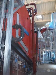 Chaudière biomasse Vyncke de la malterie Boortmalt à Issoudun
