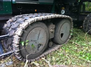 Galets entre les roues (de la société FHS) sur le système Quattro, photo FCBA
