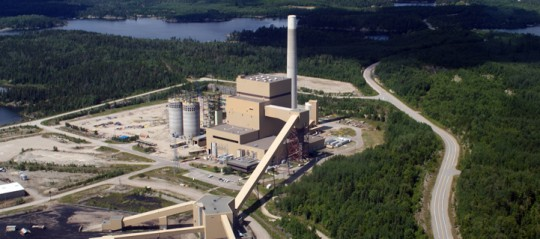 Le site de la centrale électrique d'Atikokan, photo OPG