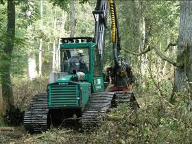 Prosilva 910, 155 kW, avec train amovible de chenilles de 80 cm de large amovible, photo FCBA