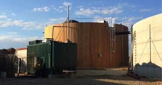 Installation de méthanisation du Gaec P2MN à Courtes dans l'Ain, photo Bio4gas