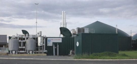 L'installation de purification du biogaz à la ferme d'Arcy, image ADEME
