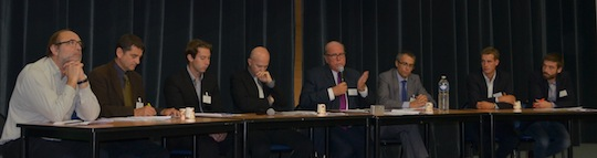 """L'une des """"tables rondes"""" lors du colloque 2014 du CIBE, photo Frédéric Douard"""