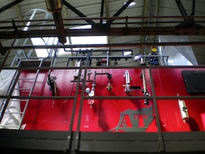 La chaudière Compte R. et son échangeur vapeur, photo Compte R.