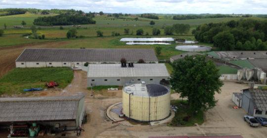 Vue de la ferme de Benoît et Christine Drouilhet à Domsure, photo MAAF