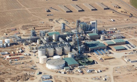 Bioraffinerie de Hugoton au Kansas. photo Abengoa Bioenergy