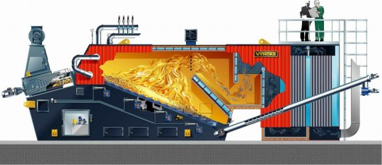 Schéma de la chaudière Vyncke de Volvo Cliquer sur l'image pour agrandir.