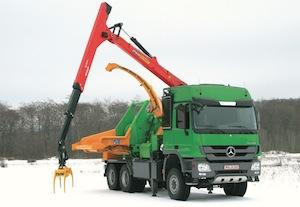 Broyeur Heizohack HM 14-800KL sur camion