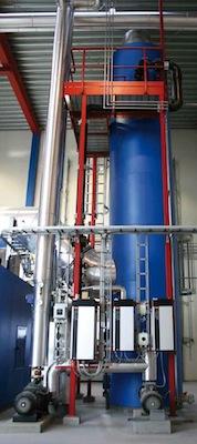 Colonne de condensation Justsen, photo Justsen