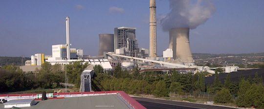 La centrale biomasse en travaux vue depuis le local de broyage de bois, octobre 2014, photo E.ON