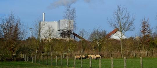 La centrale de cogénération bois de Rennes sud, photo Frédéric Douard