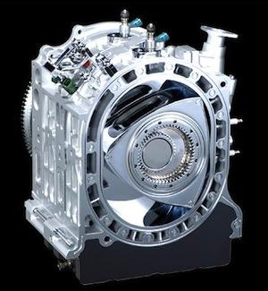 Les pistons du moteur Wankel sont triangulaires, photo Mazda