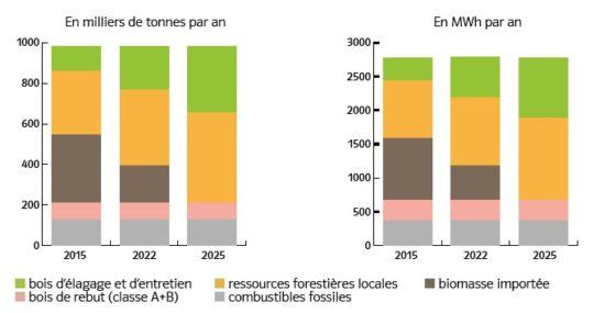 Mix énergétique de la nouvelle unité Provence 4 Biomasse
