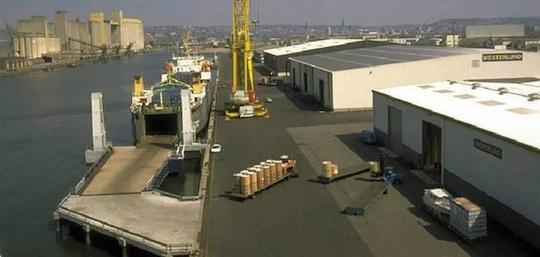 Quai Euroports à Rouen
