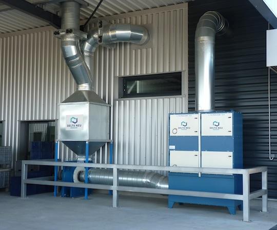 Système de traitement d'air des ateliers fourni par DELTA NEU, photo Frédéric Douard