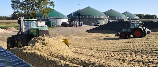 Unité de méthanisation utilisant du maïs en Allemagne, photo MT Energie.