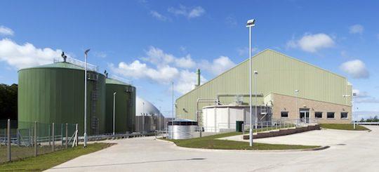 Barkip, Ecosse, unités de 80 000 tonnes, de biodéchets avec production de 2,2 MWé, photo Xergi