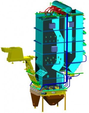 Schéma de la chaudière haute pression AET chez DRT à Vielle-Saint-Girons