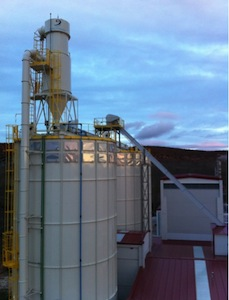 Silos et aspirations Cattin Filtration chez RIBpellet, photo Prodesa