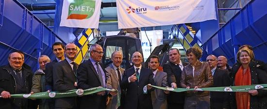 Inauguration de l'unité de tri-méthanisation-compostage ECOCEA