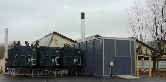 Chaufferie TIGR de 1200 kW avec silos externes en conteneurs