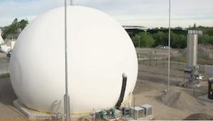 Installation de méthanisation des biodéchets ménagers BSR à Berlin