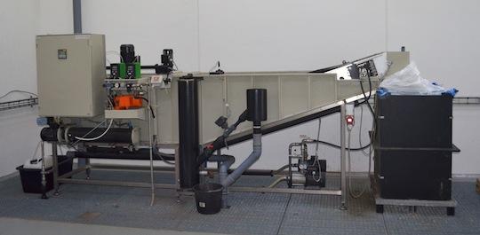 Installation de traitement des condensats à Østbirk, photo Frédéric Douard