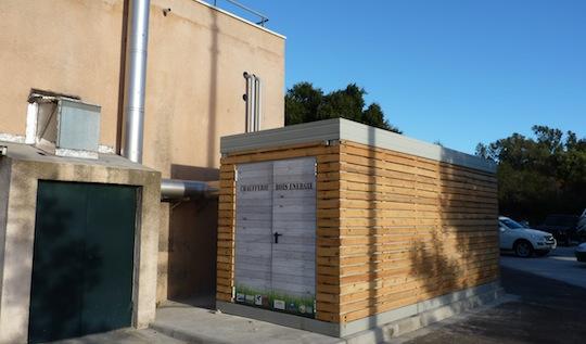 Implantation r ussie d une chaufferie conteneur bois for Container en bois