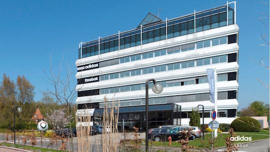 Les bureaux du siège français de adidas à Landersheim en Alsace, photo adidas