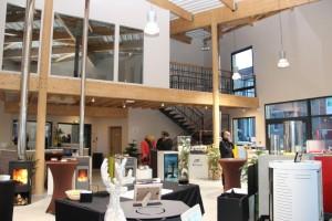 La salle d'exposition de la Maison du Pellet à Epernay, photo CPE Bardout