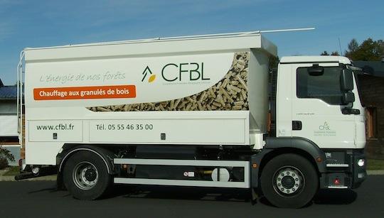 Citerne à granulés Transmanut de la coopérative CFBL en Corrèze