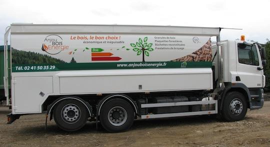 Atlas des distributeurs de granulé de bois par camion souffleur de la Francophonie