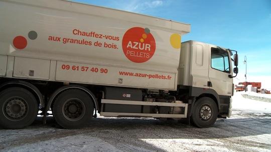 Citerne à granulés Transmanut des Ets Azurpellets en Savoie