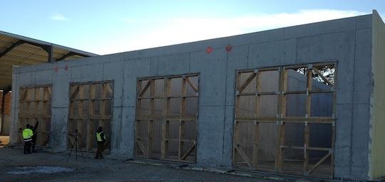 Construction des cellules du GAEC Schneider, photo Méthajade
