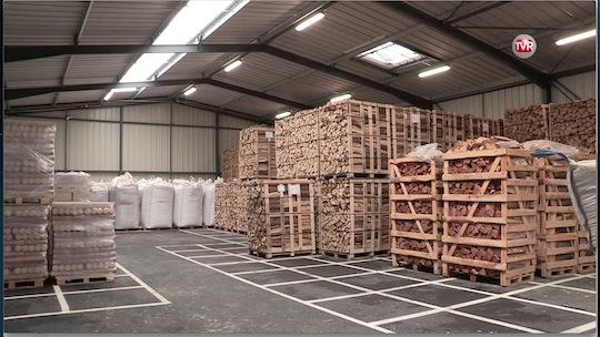 Halle de stockage des biocombustibles secs à Montauban-de-Bretagne, photo BME