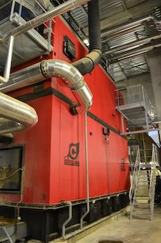 L'une des deux chaudières Compte R. de 8,8 MW, photo Frédéric Douard